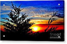 Sunset Overlooking Pacifica Ca Vi Acrylic Print by Jim Fitzpatrick