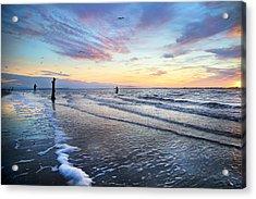 Sunset Paradise Jekyll Island  Acrylic Print by Betsy Knapp