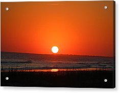 Sunset Red Acrylic Print by Rosanne Jordan