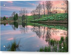 Sunset Reflections Acrylic Print by Bill Wakeley