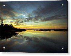 Sunset Reflections. Lake Gentry. Acrylic Print by Chris  Kusik