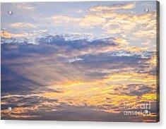 Sunset Sky Acrylic Print by Elena Elisseeva