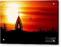 Sunset - Sky In The Fire Acrylic Print by Martin Dzurjanik