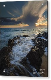 Sunset Spillway Acrylic Print by Mike  Dawson