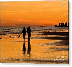 Sunset Stroll Acrylic Print by Al Powell Photography USA