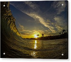 Sunset Wall Acrylic Print by David Alexander