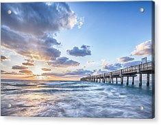 Sunshine At The Pier Acrylic Print by Jon Glaser