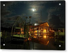 Super Moon At Nelsons Acrylic Print by Michael Thomas