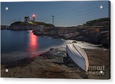 Super Moon Over Nubble Acrylic Print by Scott Thorp