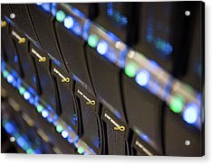 Supercomputer Storage Blades Acrylic Print by John Cairns Photography/oxford University Images