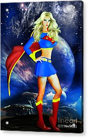 Supergirl Acrylic Print by Alicia Hollinger