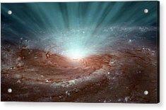 Supermassive Black Hole Acrylic Print by Nasa/jpl-caltech
