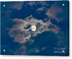Supermoon Acrylic Print by Robert Bales