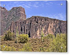 Superstition Wilderness Arizona Acrylic Print by Christine Till