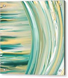 Surf And Sand Acrylic Print by Lourry Legarde