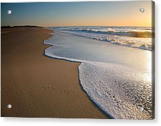 Surf And Sand Acrylic Print by Steven Ainsworth