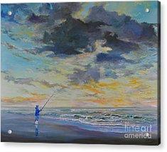 Surf Fishing Acrylic Print by AnnaJo Vahle