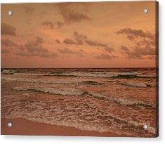 Surf - Florida Acrylic Print by Sandy Keeton