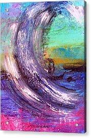 Surf Is Up Acrylic Print by Nikki Dalton