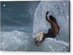 Surf Kauai Acrylic Print by Bonita Hensley