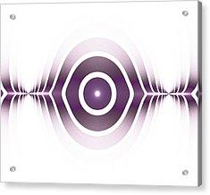 Surface Waves - Purple Acrylic Print by Anastasiya Malakhova