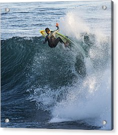 Surfer At Steamer Lane Acrylic Print by Bruce Frye