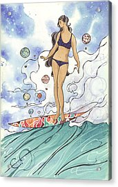 Surfer Chic  Acrylic Print by Harry Holiday