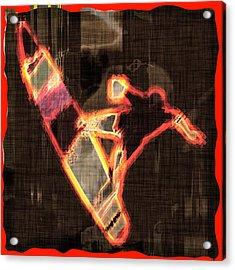 Surfer Acrylic Print by David G Paul