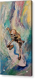 Surfer Acrylic Print by Michael Creese