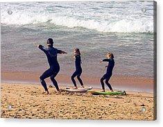 Surfing Lesson Acrylic Print by Stuart Litoff