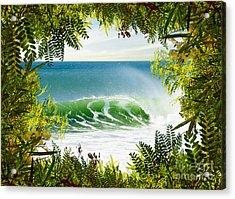 Surfing Paradise Acrylic Print by Carlos Caetano