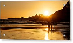 Surfing Reflections Acrylic Print by Lisa Knechtel