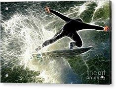 Surfing Usa Acrylic Print by Bob Christopher
