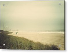 Surf's Up Seaside Park New Jersey Acrylic Print by Terry DeLuco