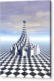 Surreal Fractal Tower Acrylic Print by Phil Perkins