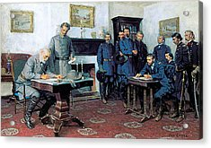 Surrender At Appomattox Acrylic Print by Tom Lovell
