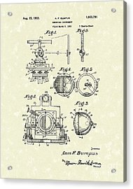Surveying Instrument 1933 Patent Art Acrylic Print by Prior Art Design