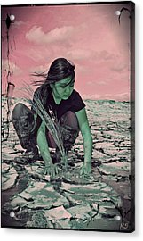 Surviving The Fallout Acrylic Print by Absinthe Art By Michelle LeAnn Scott