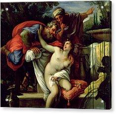 Susanna And The Elders Acrylic Print by Giuseppe Bartolomeo Chiari