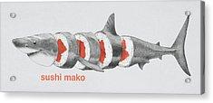Sushi Mako Acrylic Print by Eric Fan