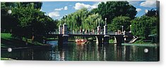 Swan Boat In The Pond At Boston Public Acrylic Print by Panoramic Images