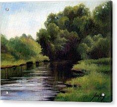 Swan Creek Acrylic Print by Janet King