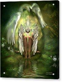 Swan Goddess Acrylic Print by Carol Cavalaris