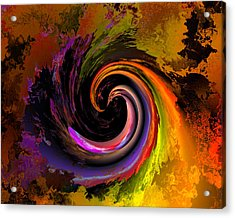 Sweeping Color Acrylic Print by Claude McCoy