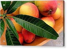 Sweet Molokai Mango Acrylic Print by James Temple