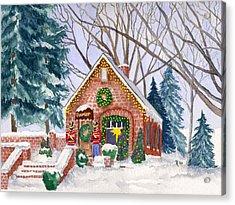 Sweet Pierre's Chocolate Shop Acrylic Print by Rhonda Leonard