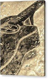 Sweet Sounds Digital Guitar Art By Steven Langston Acrylic Print by Steven Lebron Langston