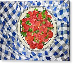 Sweet Strawberries Acrylic Print by Janet Immordino