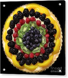 Sweet Treats - Fruit Cake - 5d20920 - Square Acrylic Print by Wingsdomain Art and Photography