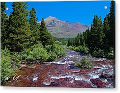Swift Current River Acrylic Print by Jeff Swan